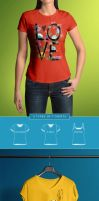 T-Shirt Mock-Up Female Model / Classic Edition by Genetic96