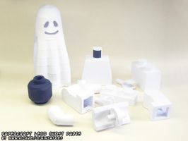 papercraft LEGO Ghost parts by ninjatoespapercraft