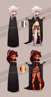 black robe tundura adobtables - CLOSED by SoukiAdopts