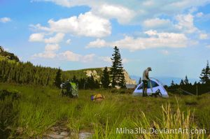 Build the tent by Miha3lla