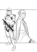 Commanders and Generals: Thire/Palpatine Pencils by Hodges-Art