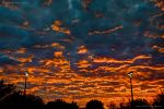 Vibrant Orange Sunrise HDR by eanimusic
