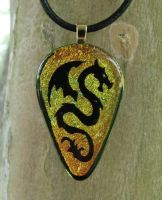Fire Wyvern Fused Glass by FusedElegance