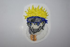 Naruto: made with  beads by Etsuko-Hime