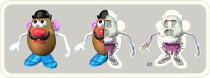 Mr. Potato Head Anatomy Trip by freeny