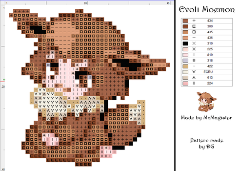 Eevee moemon pattern by didi-gemini