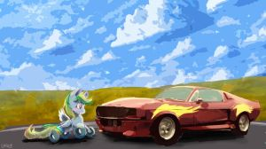Wheely Bopper And Car by OwlVortex