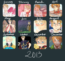 2013 Art Summary by TheCrazyGirlWhoDraws