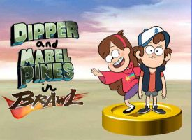 Dipper and Mabel join the Brawl by rabbidlover01