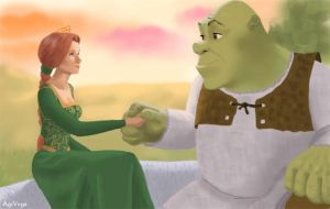 Shrek and Fiona by AgiVega