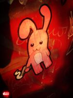 Bunny on telephone booth by The-Devo
