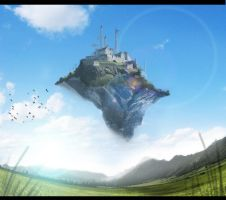 Flying Castle by candyworx