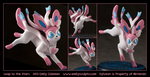 Commission : Sylveon - Leap to the Stars by emilySculpts