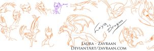 Laya as dragon sketches by zavraan