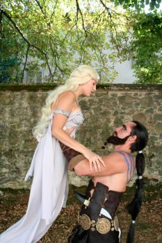 Drogo and Daenerys by NinjaNinjin