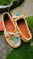 Beaded Toe Moccasins by Theda-Blue