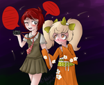 Mahiru and Hiyoko by meltedFigures