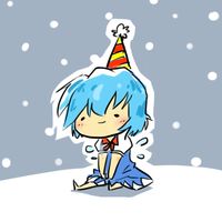 Cirno likes snow?? by yongharn