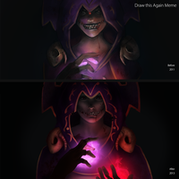 Draw this Again Meme - Necromancer by shesta713
