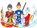Zuko, Sokka and Aang by BenjiPrice