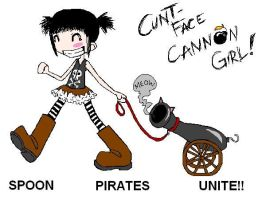 Spoon pirate cannon girl by DarkDevi