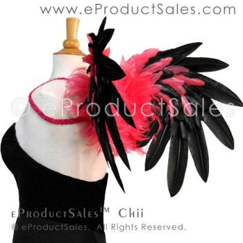Black and Pink Chii Feather Angel Wings Costume by eProductSales