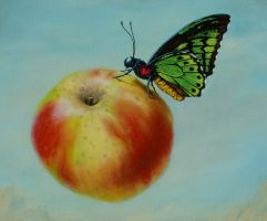 Fly By Fruitie Apple - detail by LindaRHerzog
