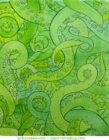 Tentacle Painting by erikamoen
