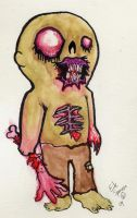 Zombie Guy by Papierschnitt