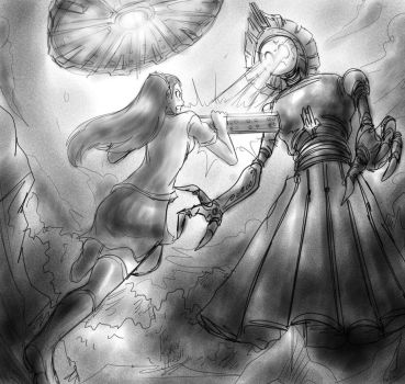 Attack! Anabel. Invasion of The Flatwoods Monster. by MexiGojira