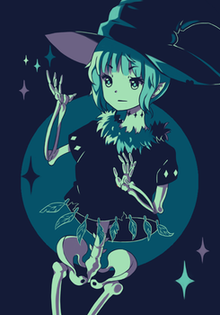 Palette challenge - Halloween Skull Witch by Neko-Slay