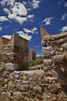 Marmaris Castle and FLAG by EtemColaK