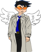 JCA Chow cosplaying Castiel by James-Li