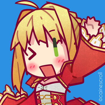 Red Saber (The Actual One) by CaineScroll