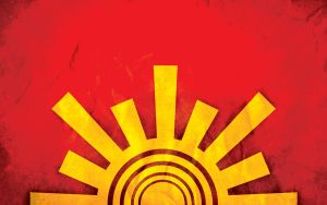 Red and Yellow Sun by zedi0us