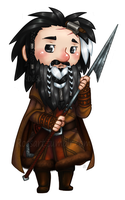 chibi Bifur art for key chain by roseannepage