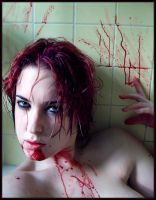 Blood Shower - Hunger by fetishfaerie-photos