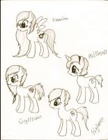 MLP:FiM Harry Potter OC Sketches by GreyAneria