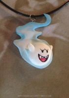 Spooky Boo Necklace by Gatobob
