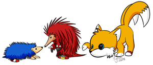Sonic the Hedgie 3 and Knuckles by Hylian-Rinku