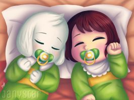 Babies: Asriel and Chara by Jany-chan17