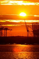 southampton docks at sunset. by LubelleCreativeSpark
