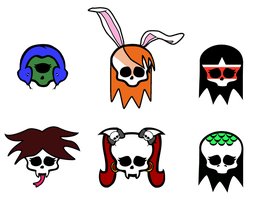 Skulletes for my ghouls by ThestralWizard