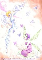 Fairy and angel by KuriExposito
