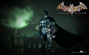 Batman: Arkham Asylum Wall01 by badtrane