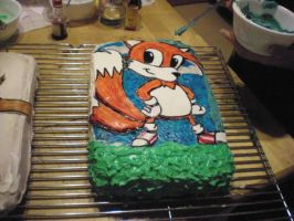 tails cake final product by toastles