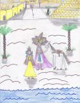 Pharaoh Atem and Princess Ivy by Starlig