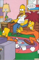 Sideshow Bob Chases Bart by sclirada