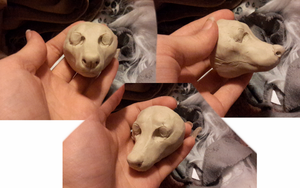 Resin head practice by okami-wildclaw