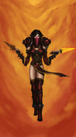 World of Warcraft - Vanessa Van Cleef (unfinished) by DerMurloc